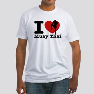 Muay Thai Heart Designs Fitted T-Shirt