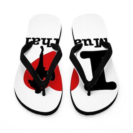 Muay Thai Heart Designs Flip Flops