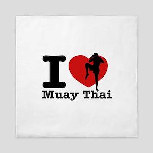 Muay Thai Heart Designs Queen Duvet