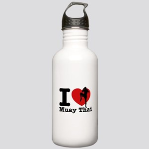 Muay Thai Heart Designs Stainless Water Bottle 1.0