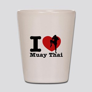 Muay Thai Heart Designs Shot Glass