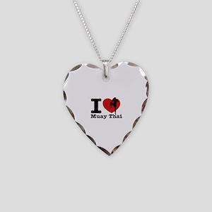 Muay Thai Heart Designs Necklace Heart Charm