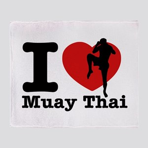 Muay Thai Heart Designs Throw Blanket