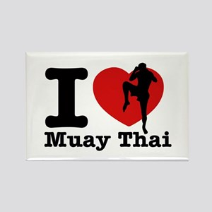Muay Thai Heart Designs Rectangle Magnet
