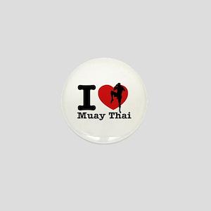 Muay Thai Heart Designs Mini Button