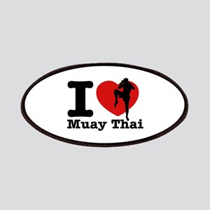 Muay Thai Heart Designs Patches