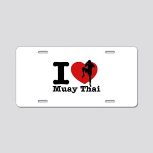 Muay Thai Heart Designs Aluminum License Plate