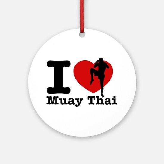 Muay Thai Heart Designs Ornament (Round)