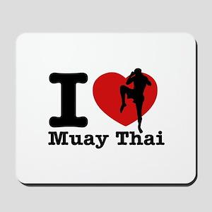 Muay Thai Heart Designs Mousepad