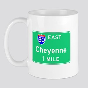 Cheyenne Exit Sign Mug
