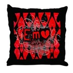 Emo Girl Throw Pillow