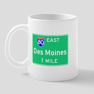 Des Moines Exit Sign Mug