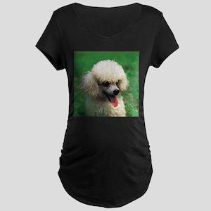 Cute Poodle Maternity Dark T-Shirt