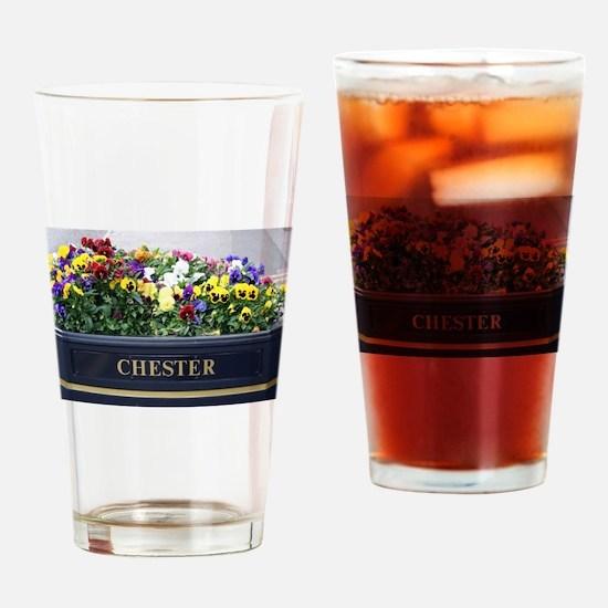 Chester, England, flower box Drinking Glass