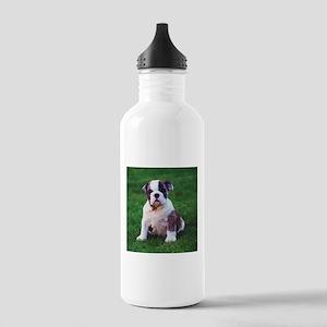 Cute Bulldog Stainless Water Bottle 1.0L