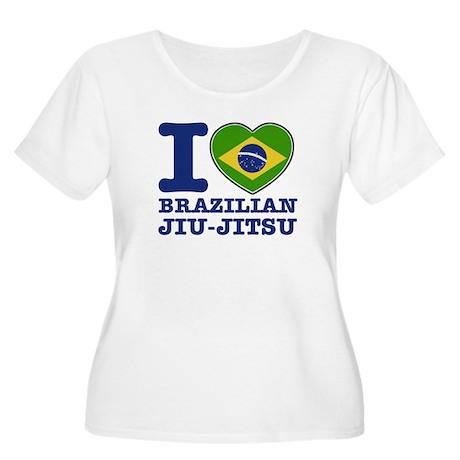 Brazilian Jiu Jitsu Flag Designs Women's Plus Size