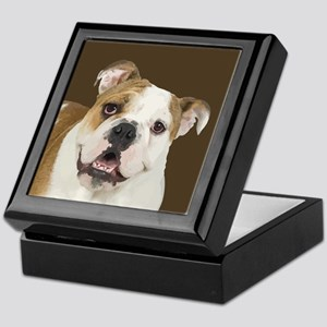 Brown Bulldog Keepsake Box