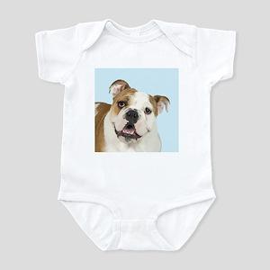 Blue Bulldog Infant Bodysuit