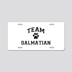 Team Dalmatian Aluminum License Plate