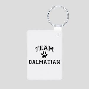Team Dalmatian Aluminum Photo Keychain