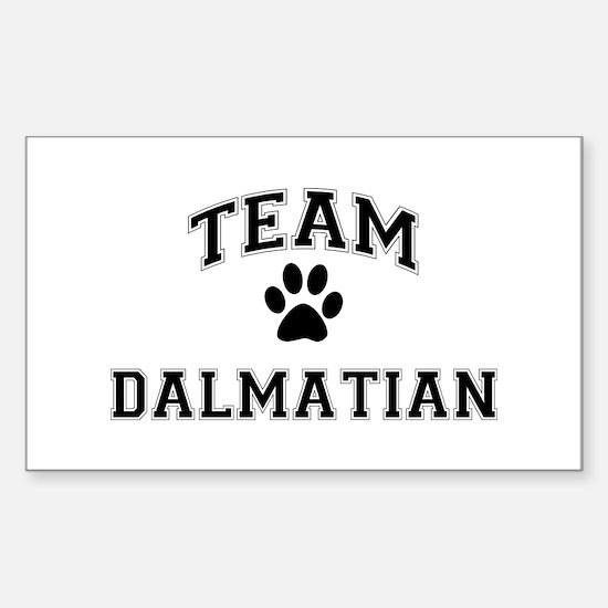 Team Dalmatian Sticker (Rectangle)
