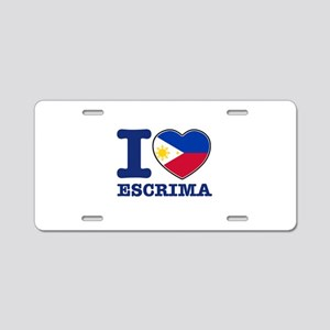 Escrima Flag Designs Aluminum License Plate