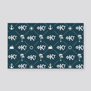 Phi Kappa Tau Pattern Blue Rectangle Car Magnet