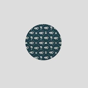 Phi Kappa Tau Pattern Blue Mini Button