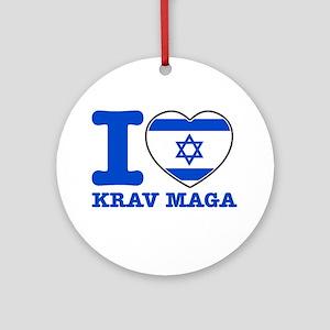 Krav Maga Flag Designs Ornament (Round)