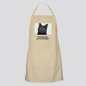 Seriously Blue Cat Apron