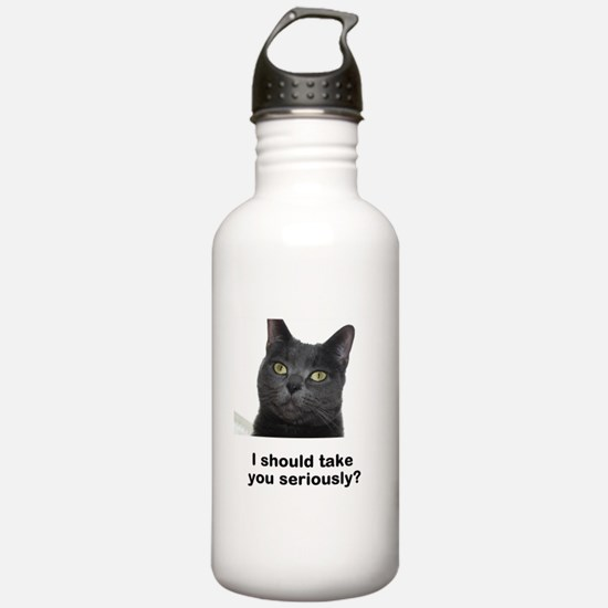 Seriously Blue Cat Water Bottle