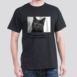 Seriously Blue Cat Dark T-Shirt