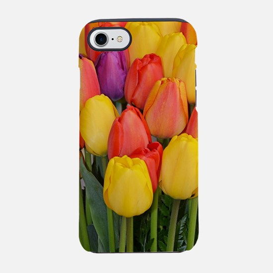 Colorful spring tulips iPhone 7 Tough Case