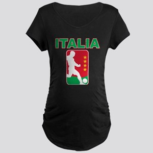 Italian World Cup Soccer Maternity Dark T-Shirt