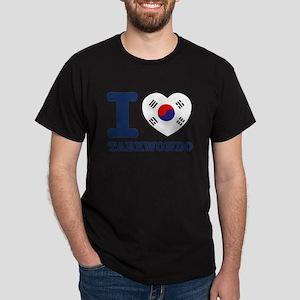 Taekwondo Flag Designs Dark T-Shirt