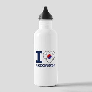 Taekwondo Flag Designs Stainless Water Bottle 1.0L