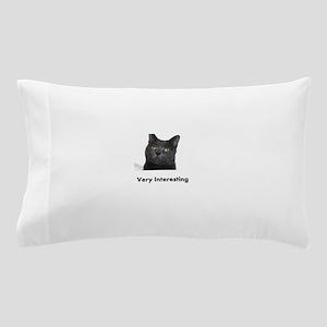 Very Interesting Blue Cat Pillow Case