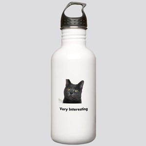 Very Interesting Blue Cat Stainless Water Bottle 1