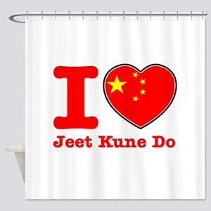 Jeet Kune Do Flag Designs Shower Curtain