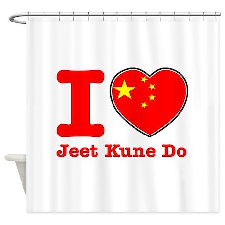 Jeet Kune Do Flag Designs Shower Curtain