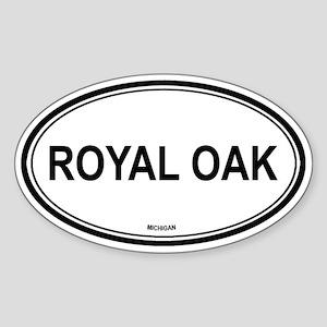 Royal Oak (Michigan) Oval Sticker