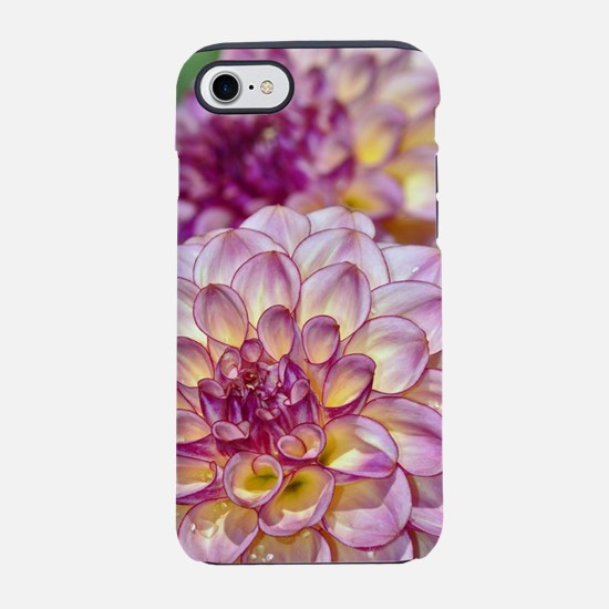 Beautiful pink dahlia flowers iPhone 7 Tough Case