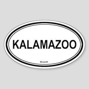 Kalamazoo (Michigan) Oval Sticker