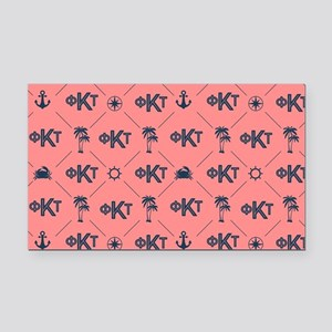 Phi Kappa Tau Pattern Coral Rectangle Car Magnet