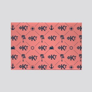 Phi Kappa Tau Pattern Coral Magnets