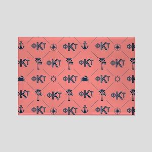 Phi Kappa Tau Pattern Coral Magnets