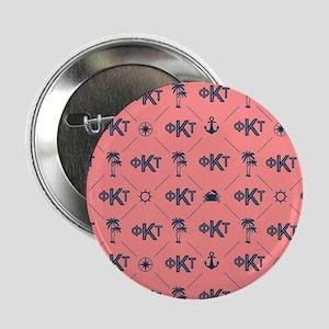 "Phi Kappa Tau Pattern Coral 2.25"" Button (10 pack)"