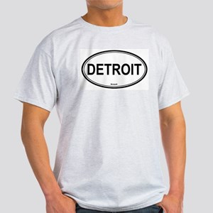 Detroit (Michigan) Ash Grey T-Shirt