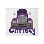 Trucker Christy Throw Blanket