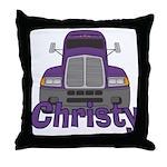 Trucker Christy Throw Pillow